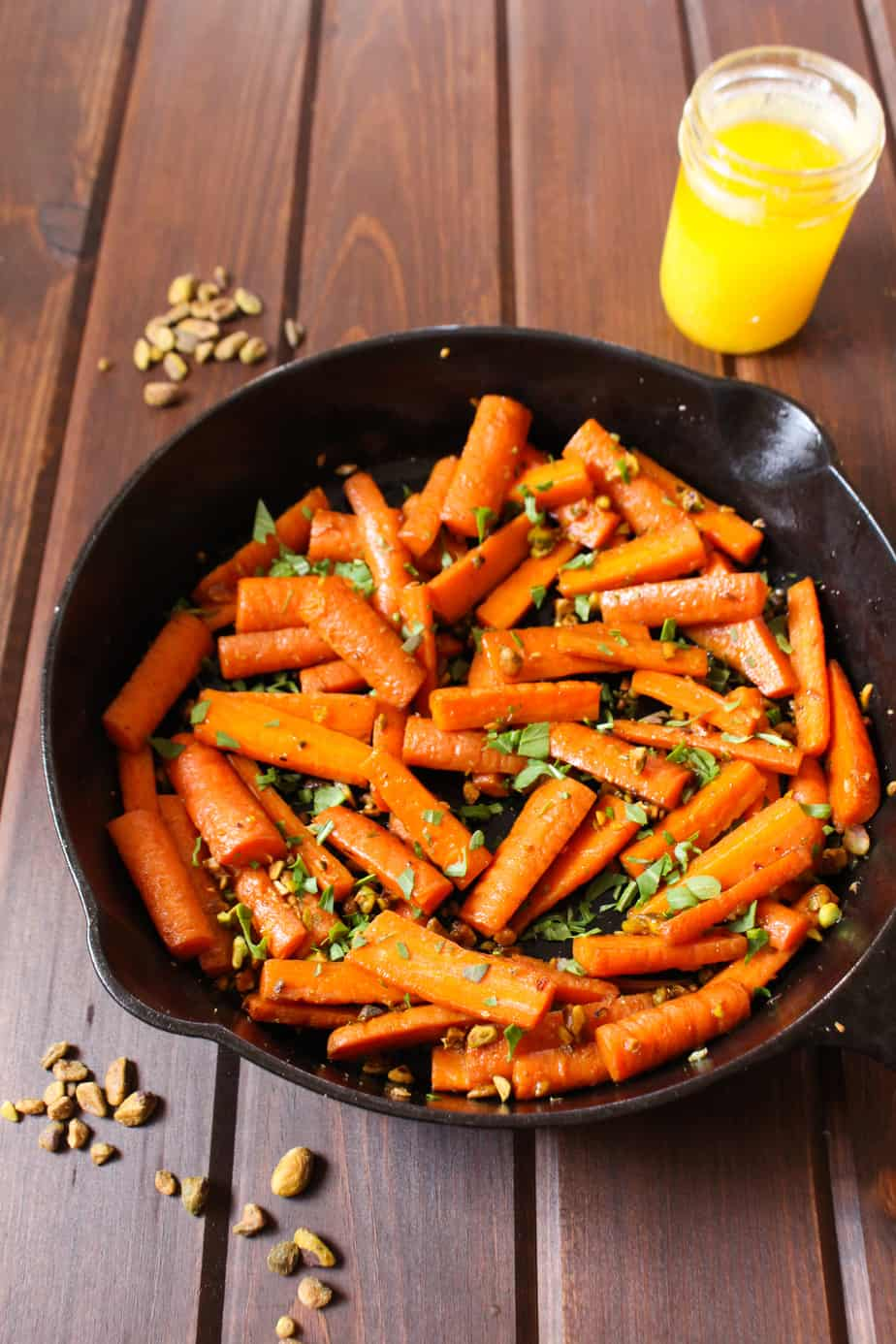 Pistachio Ghee Carrots | Frugal Nutrition