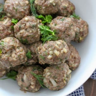 Easy Baked Herbed Lamb Meatballs Paleo | Frugal Nutrition