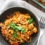 Easy Kid Friendly Pizza Spaghetti Squash Casserole | Frugal Nutrition