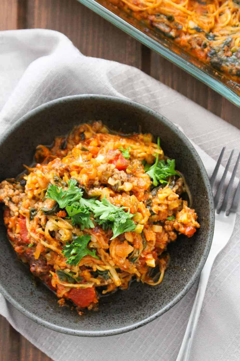 Easy Kid Friendly Pizza Spaghetti Squash Casserole | Frugal Nutrition