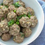 Herbed Lamb Meatballs Gluten Free Dairy Free Paleo | Frugal Nutrition