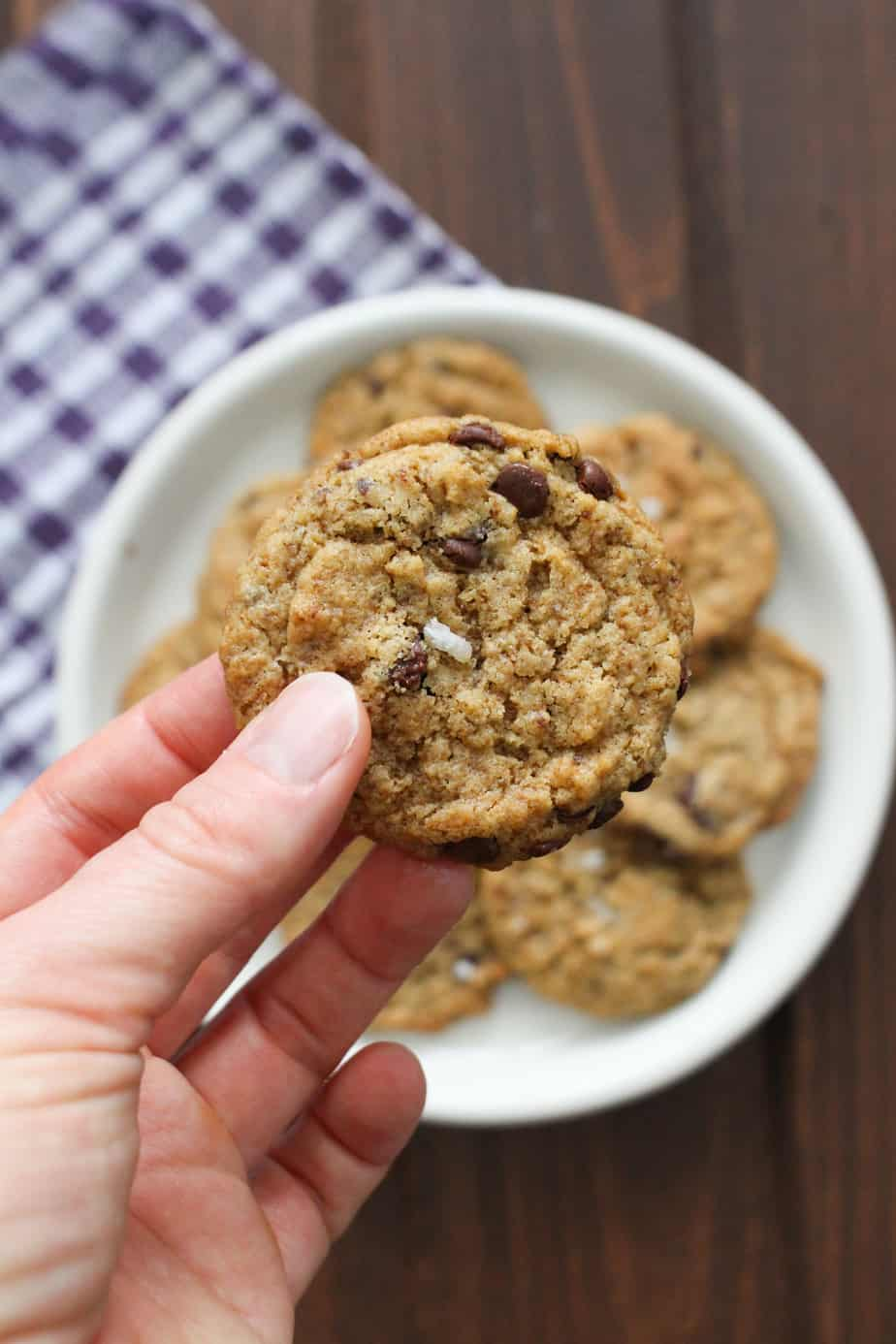 Easy 5 Ingredient Chocolate Chip Cookies | Frugal Nutrition #glutenfree #dairyfree
