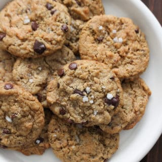 Tahini or Cashew Butter Chocolate Chip Cookies Any Butter Cookies | Frugal Nutrition