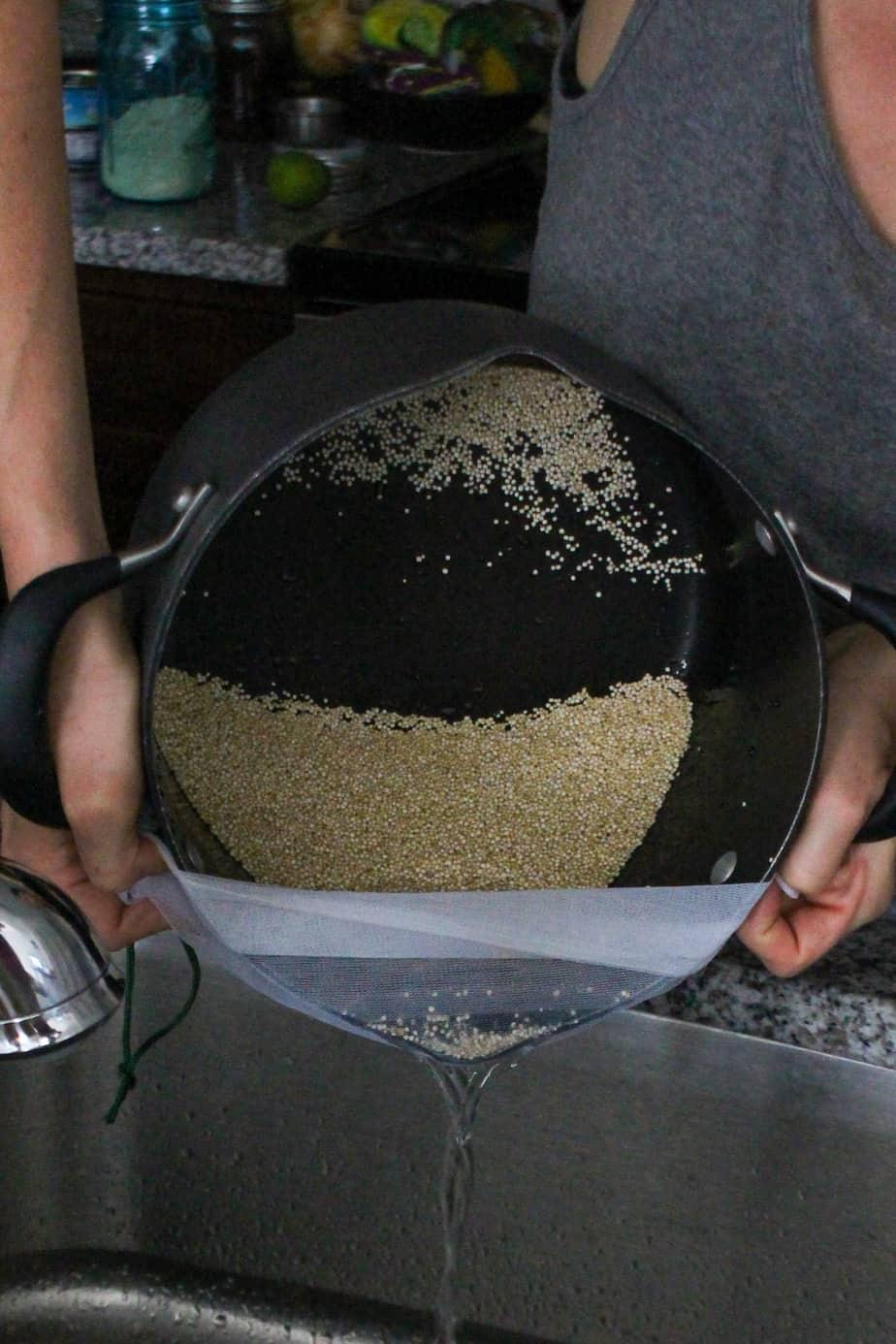Drain Quinoa