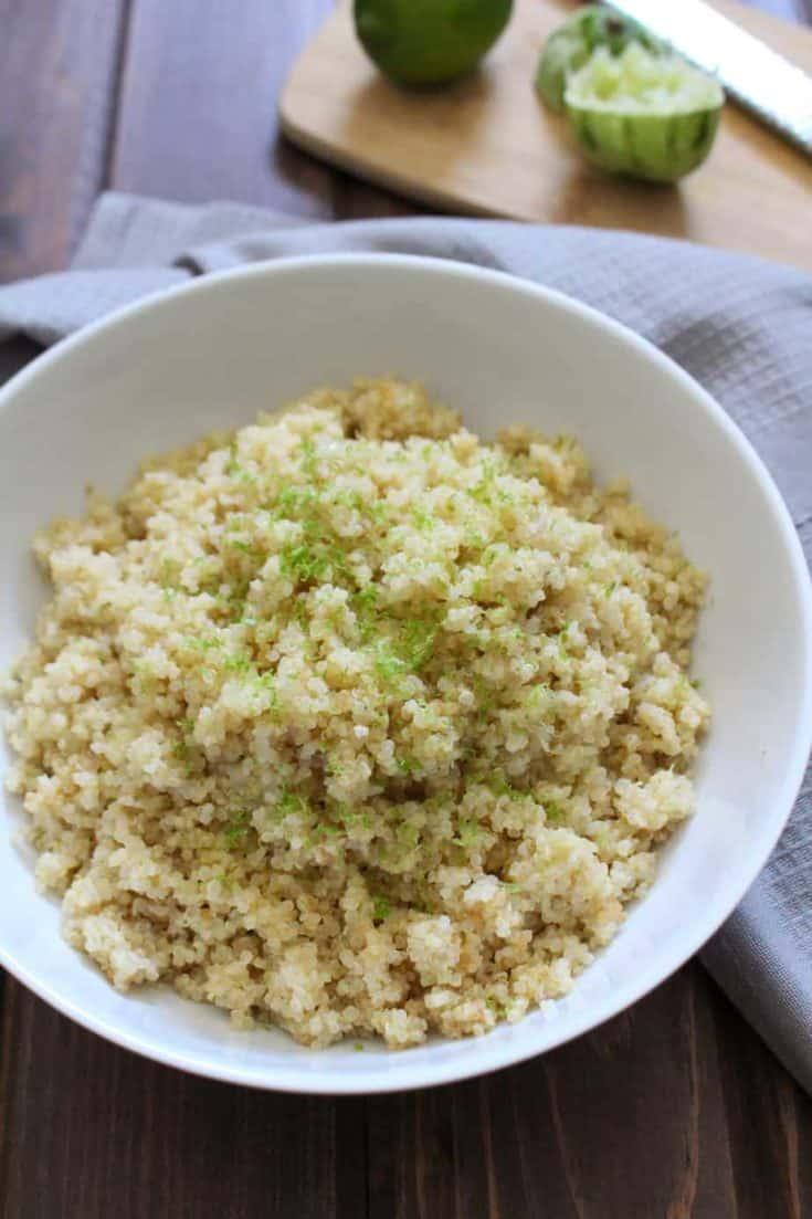 3-Ingredient Coconut Lime Quinoa