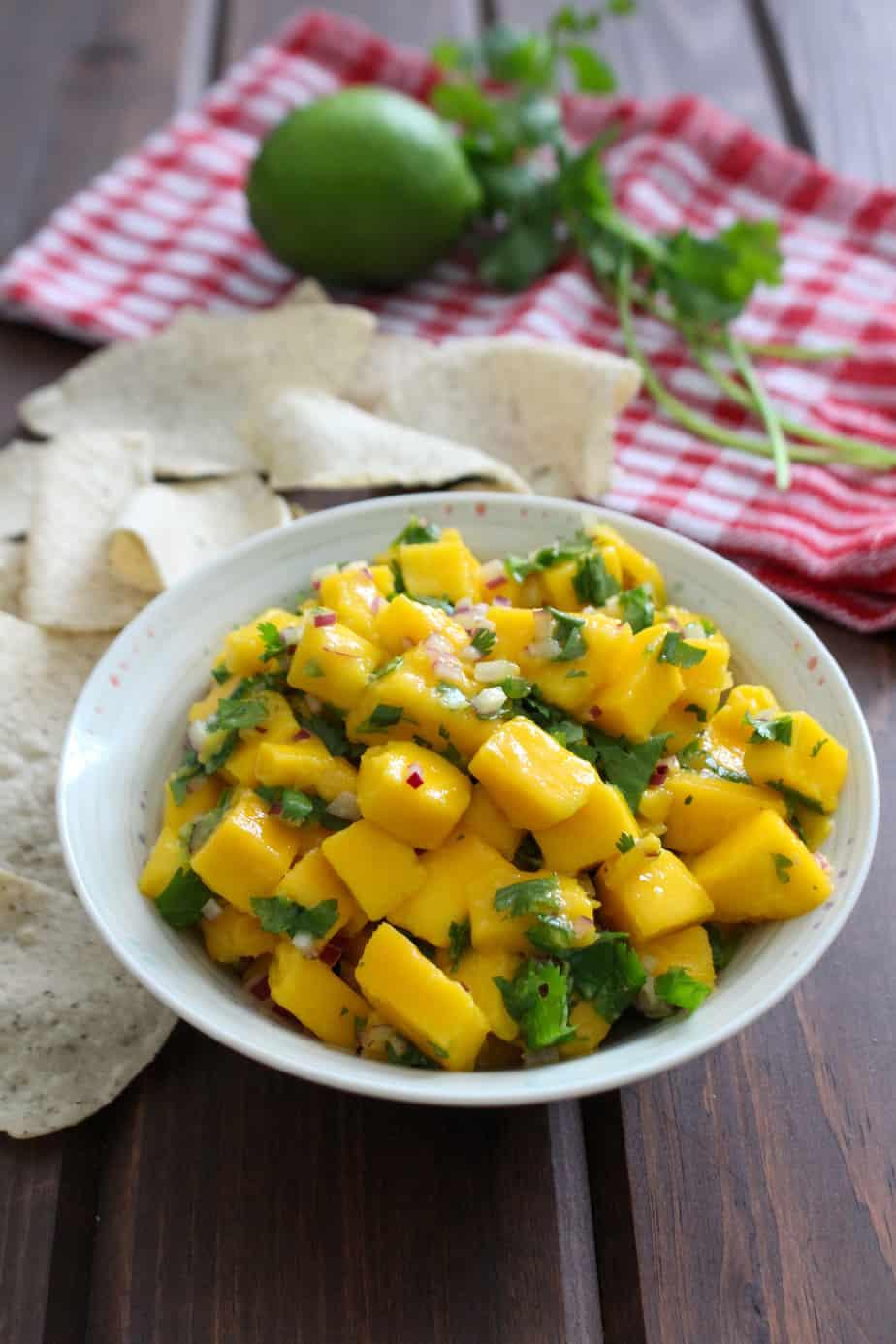 Easy Spicy Mango Salsa   Frugal Nutrition