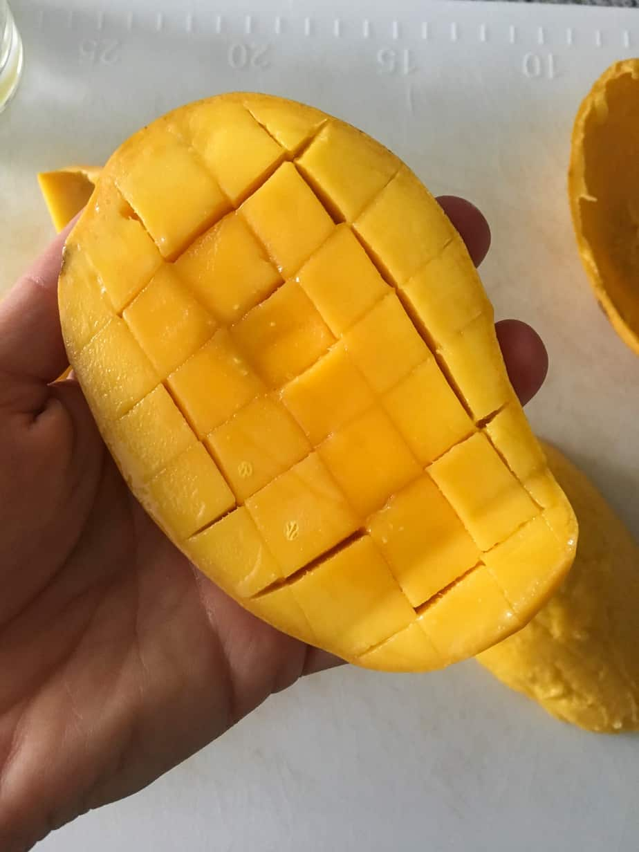 How to Cut a Mango - Cross Hatch | Frugal Nutrition