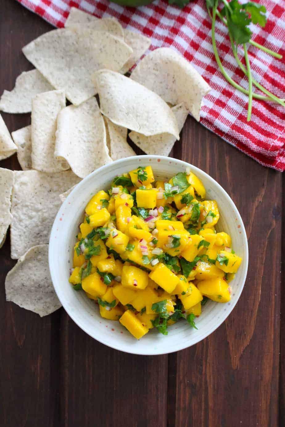 Spicy Mango Salsa with Siete Tortilla Chips   Frugal Nutrition