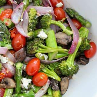 Summer Roasted Vegetable Salad | Frugal Nutrition
