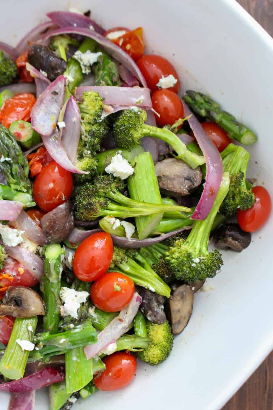 Summer Roasted Vegetable Salad | Frugal Nutrition