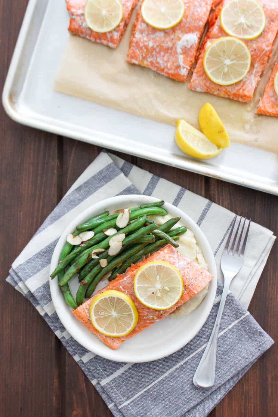 Roasted Wild Salmon Fillet Dinner | Frugal Nutrition