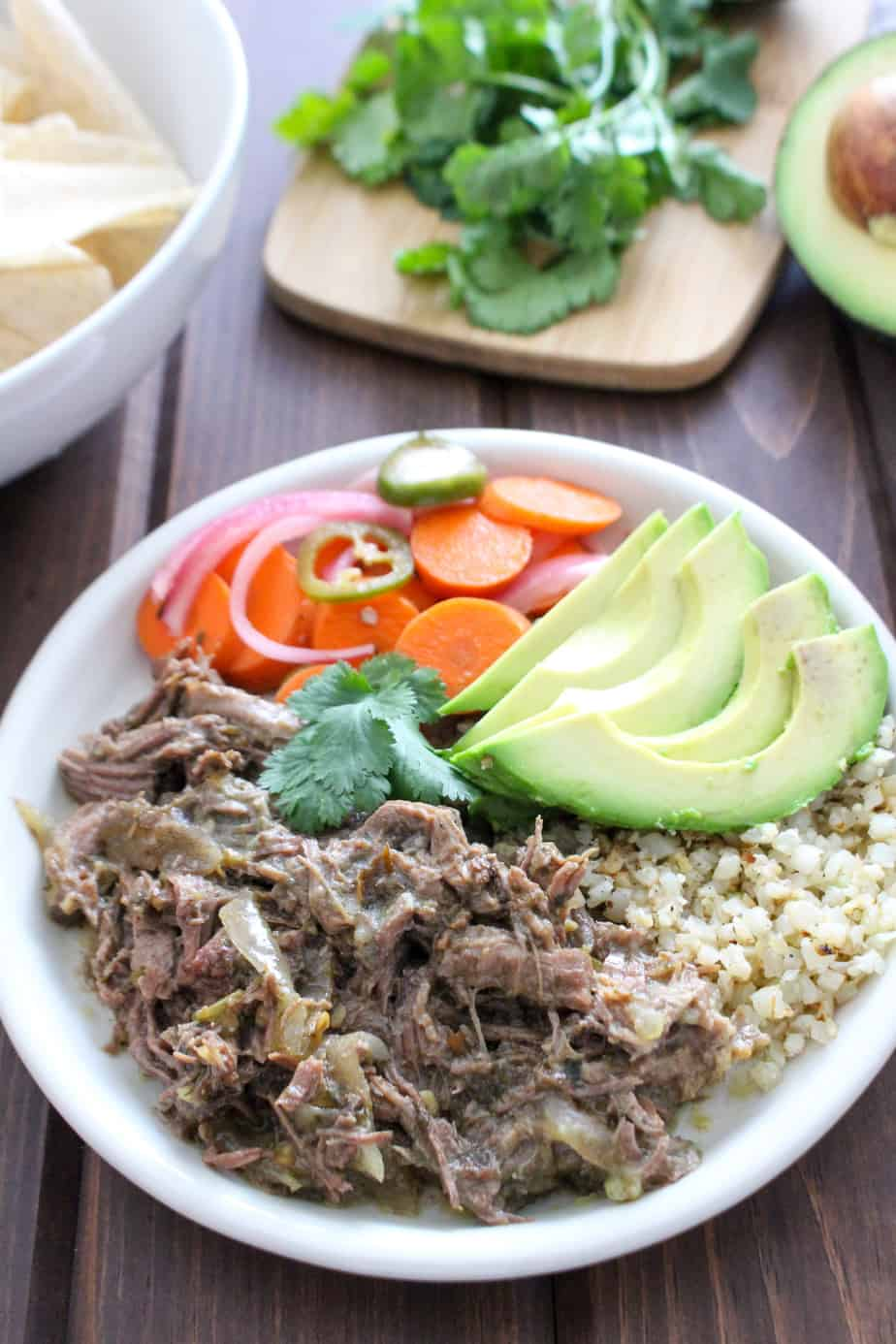 Frugal Nutrition Slow Cooker Beef Chile Verde