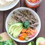 Slow Cooker Beef Chile Verde with Spicy PIcked Carrots | Frugal Nutrition