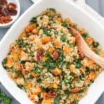 Warm Butternut Squash Quinoa Salad with Candied Pecans