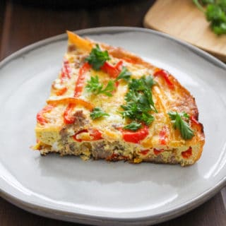 Cast Iron Skillet Frittata with Sausage and Bell Peppers | Frugal Nutrition2