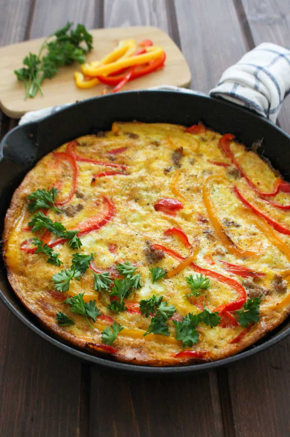 Sausage and Pepper Frittata (Paleo) | Frugal Nutrition