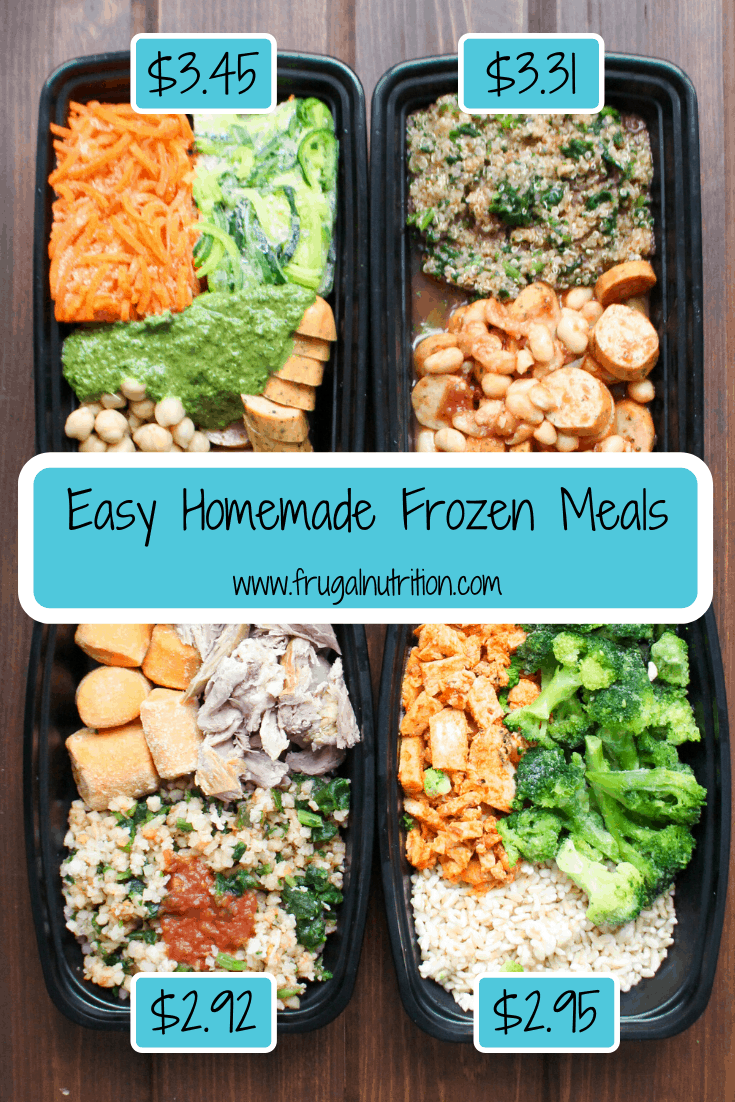 Easy Homemade Frozen Meals | www.frugalnutrition.com
