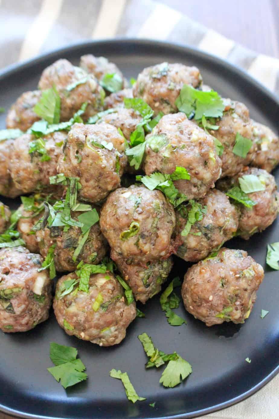 GF DF Vietnamese Bun Cha Meatballs | Frugal Nutrition #glutenfree #dairyfree #paleo #whole30 #paleomeatballs