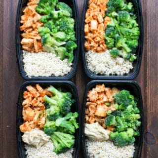 Harissa Chicken Rice Bowl Frozen Meal Prep Containers | Frugal Nutrition