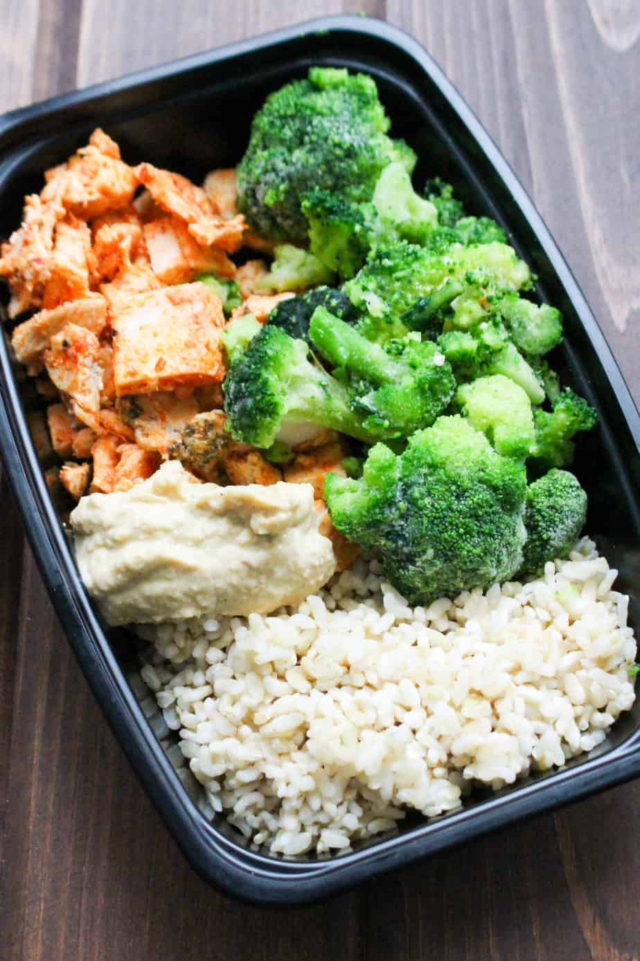 Harissa Chicken Rice Bowl Frozen Meal Prep | Frugal Nutrition