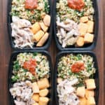 How to Make Whole30 Frozen Meal Prep Carnitas Bowls | www.frugalnutrition.com