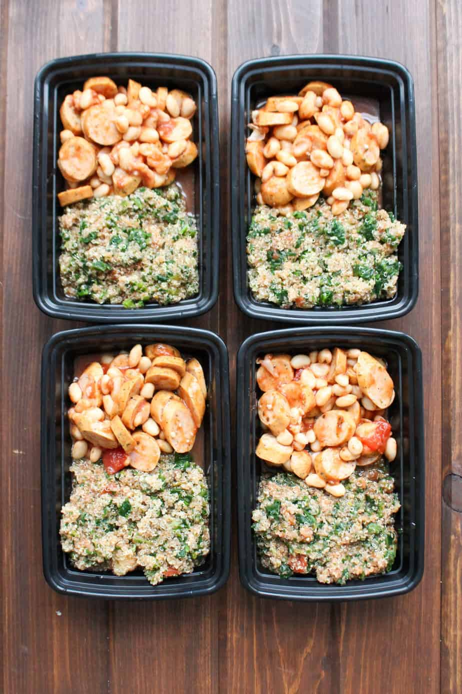 Italian Quinoa Marinara Frozen Meal Prep Containers | Frugal Nutrition