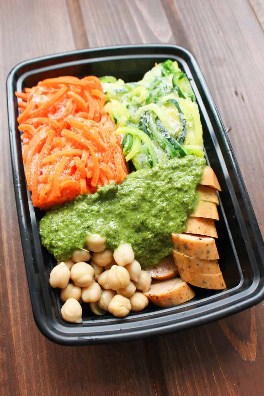 Pesto Veggie Noodles Frozen Meal Prep | Frugal Nutrition