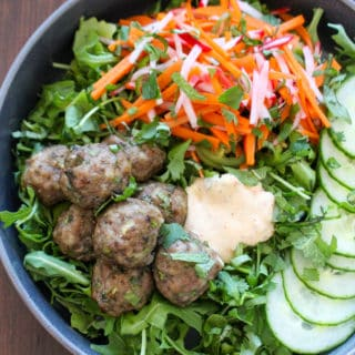 Vietnamese Meatball Bowls (Bun Cha Bowls) | Frugal Nutrition