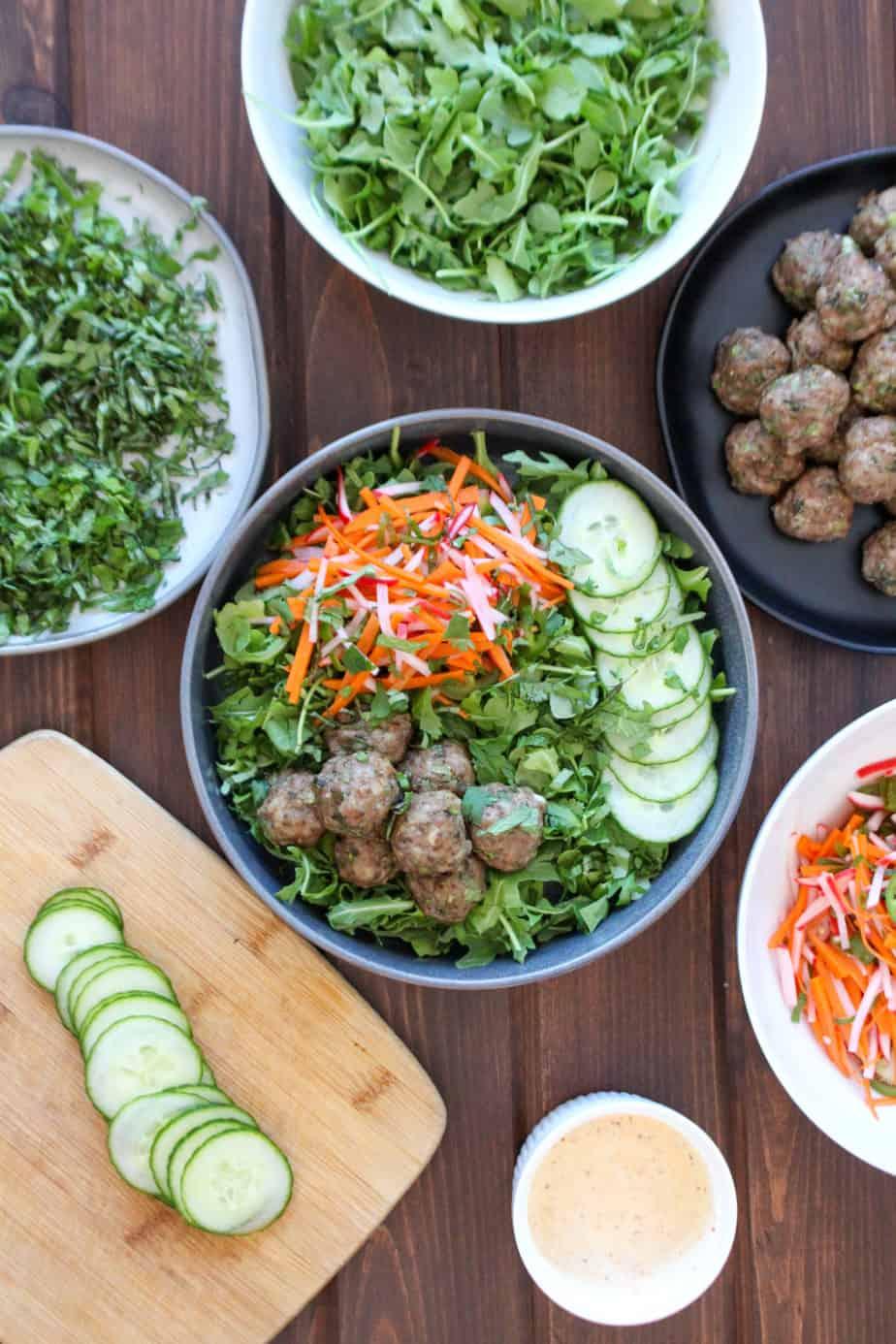 Bun Cha Salad Bar | Frugal Nutrition