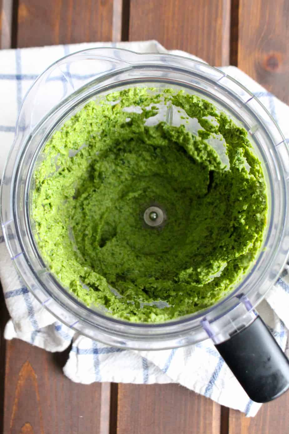 Dairy Free Bitter Greens Pesto Pureed by Frugal Nutrition