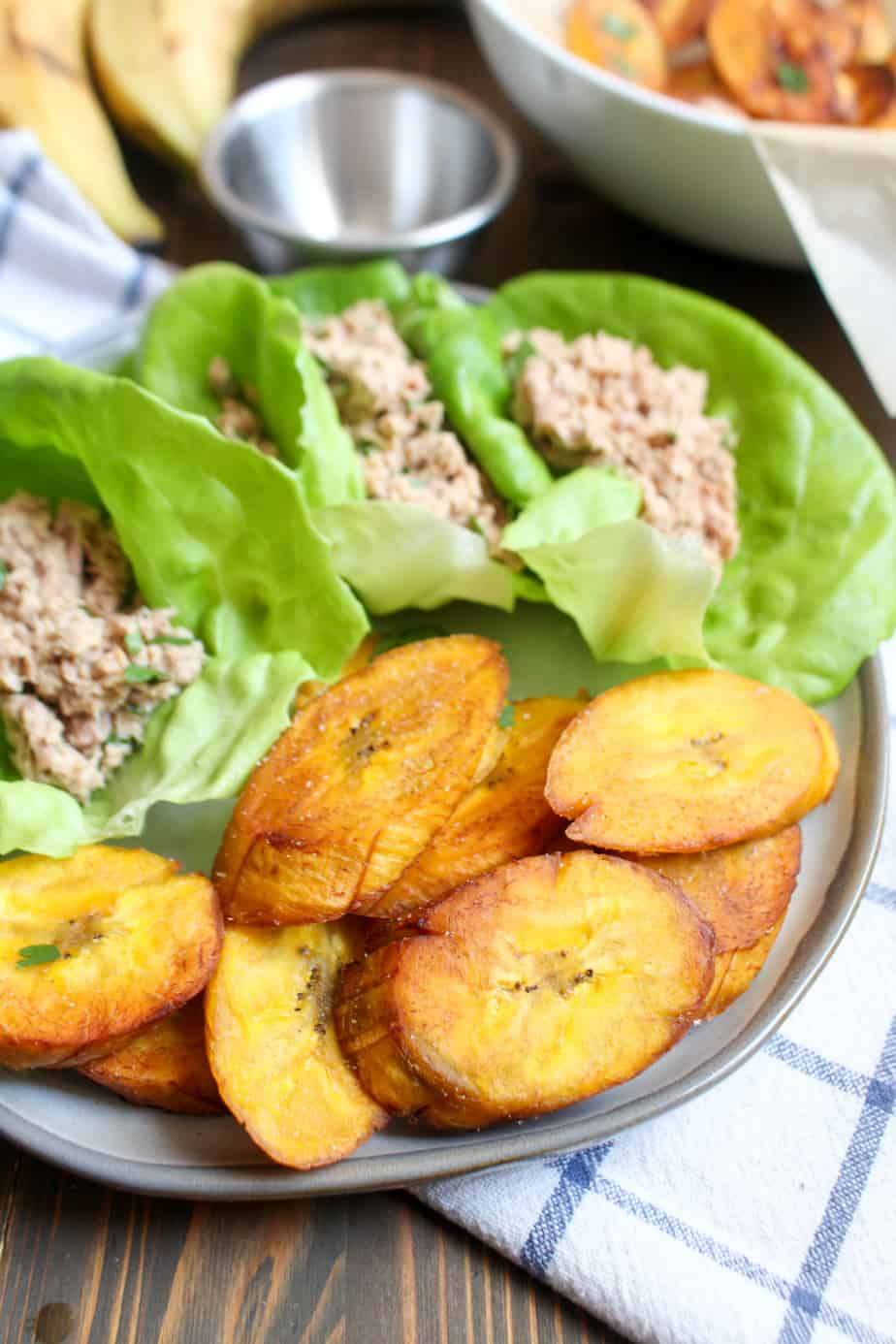 Crispy Salted Plantains Lunch Plate | Frugal Nutrition