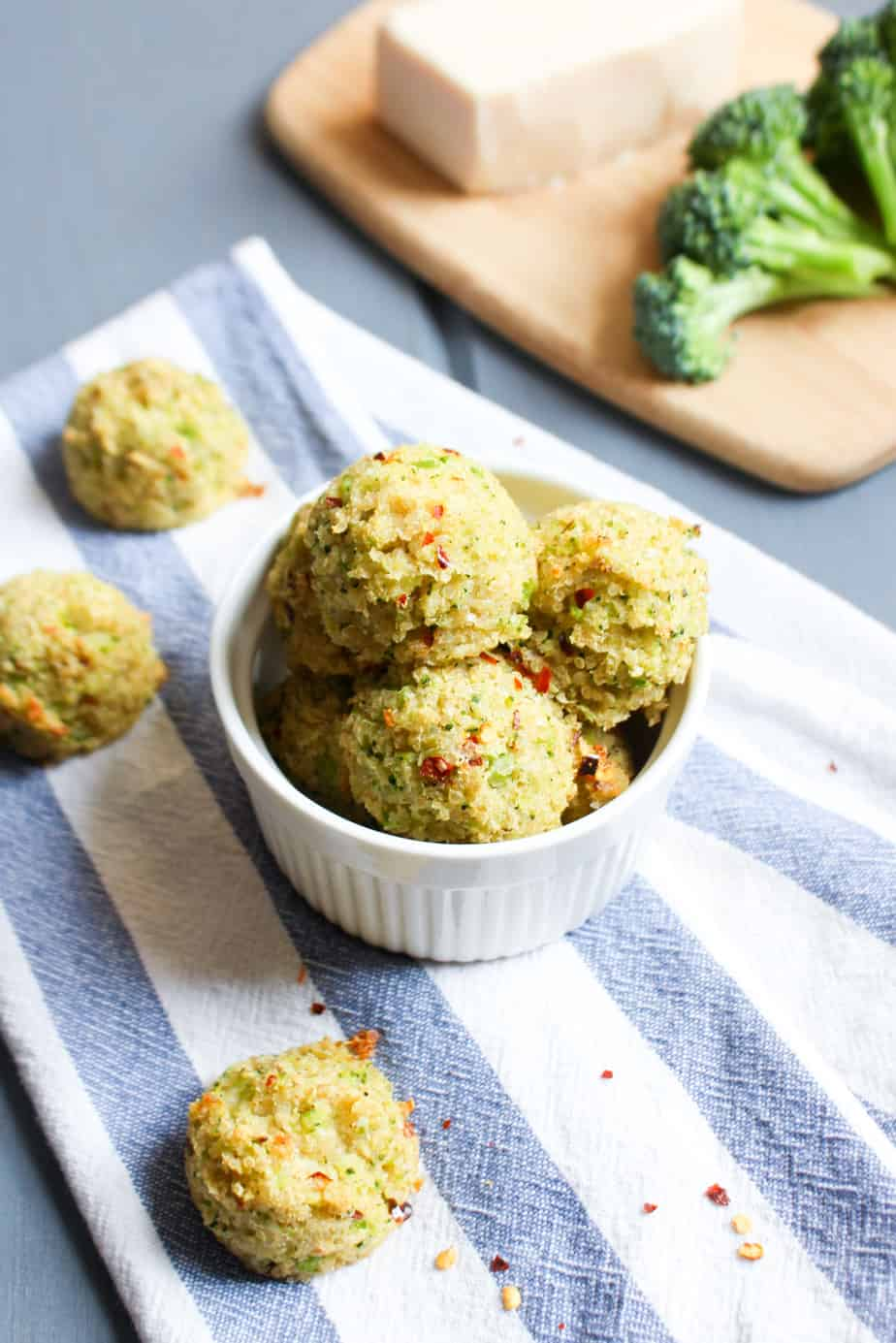 Parmesan Broccoli Quinoa Bites by Frugal Nutrition