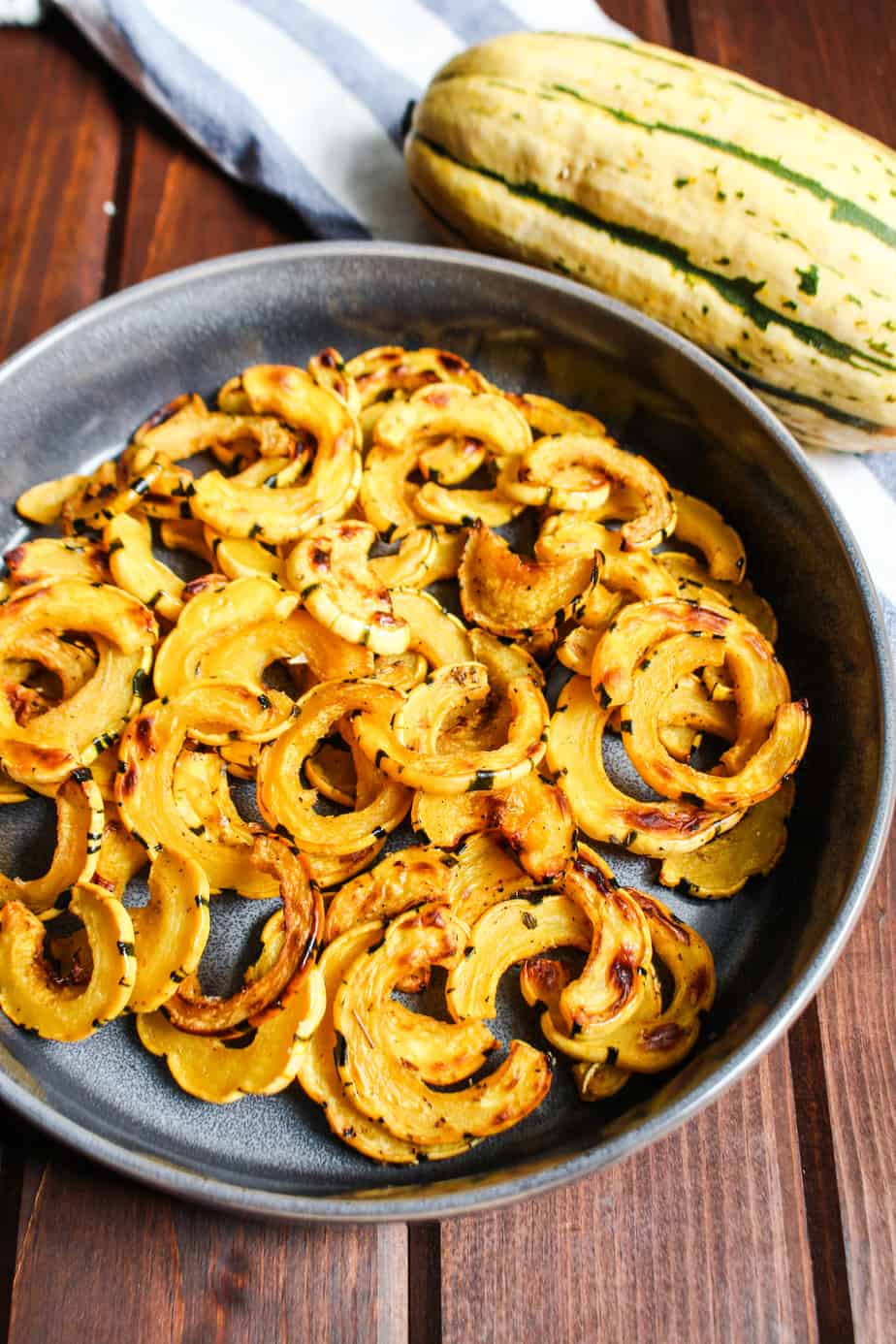 Roasted Delicata Squash In Dish