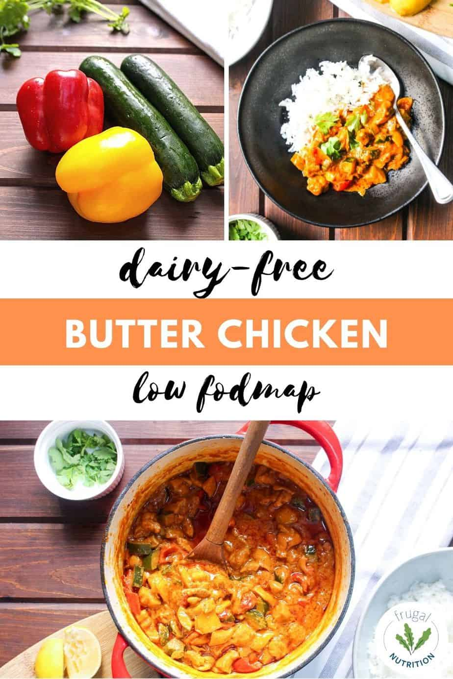 PIN with three images of butter chicken
