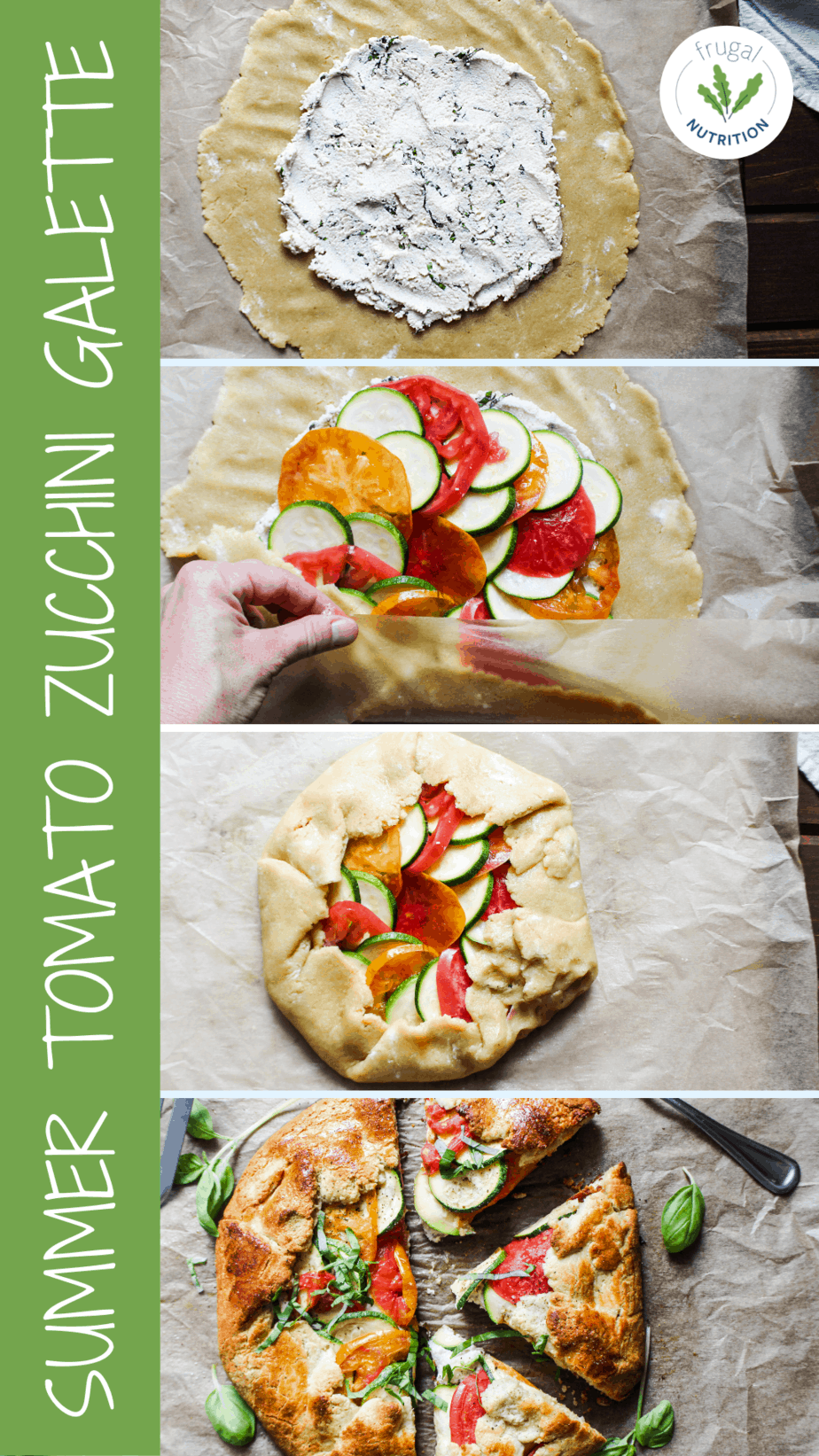 how to images for making zucchini galette